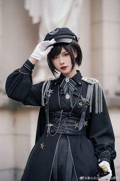 Susin -The Glory of Cuteness- Military Lolita Ouji Lolita Set,Lolita Dresses, Cosplay Outfits, Edgy Outfits, Cool Outfits, Old Fashion Dresses, Fashion Outfits, Lolita Fashion, Gothic Fashion, Estilo Lolita, Lolita Cosplay