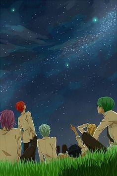 Kuroko no basket, kiseki no sedai Midorima, Akashi, Kuroko, Aomine,Kise and Midorima.