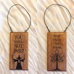 Lord of the Rings double-sided door hanger. Available on my Etsy!