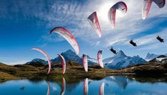 Spectacular Sequential Photography - sequence sports photography from the Red Bull Illume Contest Water Photography, Sport Photography, Amazing Photography, Paragliding, Windsurfing, Red Bull Illume, Gopro, Grindelwald, Concours Photo