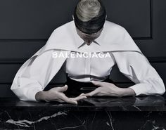 Kristen McMenamy for Balenciaga Fall/Winter 2013 Campaign