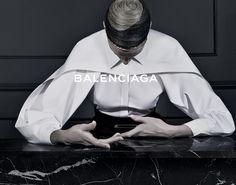 Kristen McMenamy for Balenciaga Fall/Winter 2013 Campaign