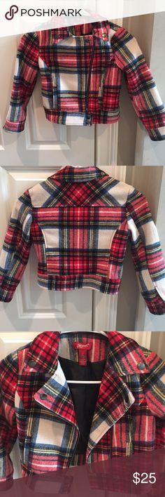 Girls size 6/7 Fall Plaid Moto Jacket Like new condition. Cute Fall Plaid Moto Jacket. Girls size 6/7 Arizona Jean Company Jackets & Coats