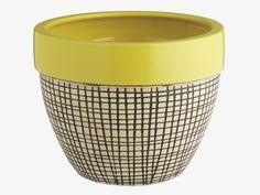 JEMMA YELLOWS Earthenware Small yellow planter - Vases & Planters- HabitatUK