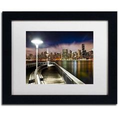Trademark Fine Art Gantry Plaza - Nyc Canvas Art by David Ayash, White Matte, Black Frame, Size: 11 x 14