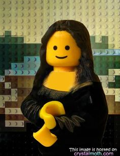 Mona Lisa LEGO  crystalmoth.com