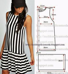 49 Ideas for sewing clothes diy dress inspiration Fashion Sewing, Diy Fashion, Ideias Fashion, Diy Clothing, Sewing Clothes, Dress Sewing Patterns, Clothing Patterns, Pattern Sewing, Free Pattern