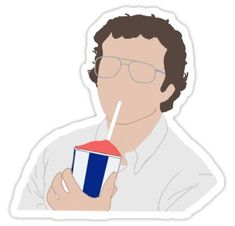'Alexi/Alexei cherry slurpy stranger things ' Sticker by catecoetzee Red Bubble Stickers, Cute Stickers, Arte One Direction, Beach Wedding Favors, Wedding Souvenir, Diy Wedding, Stranger Things Netflix, Stranger Things Merchandise, Tumblr Stickers