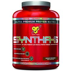 BSN SYNTHA-6 Protein Powder, Whey Protein, Micellar Casein, Milk Protein Isolate, Flavor: Chocolate Milkshake, 48 Servings -- Check out this great product. (This is an affiliate link) #SportsNutrition