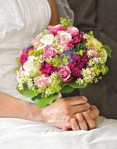 Bildergalerie mit einer Auswahl der schönsten Brautsträusse in leuchtend bunten Farbtönen.