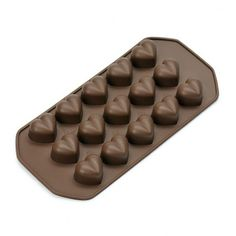 Forma silikonowa na 15 czekoladek KAISER HEART PRALINEN -- brązowy