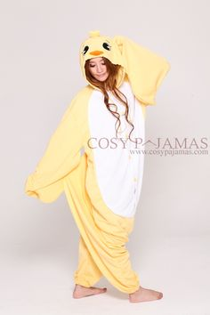 Animal Costume Yellow Chick Adult Onesie Kigurumi for Summer Cute Onesies, Cute Pjs, Cute Pajamas, Lazy Day Outfits, Cool Outfits, Fashion Outfits, Onesie Pajamas, Pyjamas, Yellow Onesie