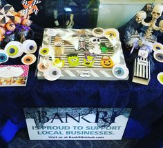 Halloween themed display BankRI#carinaedolce  www.carinaedolce.com www.facebook.com/carinaedolce Support Local Business, Halloween Themes, Community, Display, Facebook, Billboard