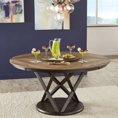 Geometric dinner table idea Walnut Table Top, Solid Wood Table, Pedestal Dining Table, Solid Wood Dining Table, Round Dining Table, Dining Room Table, Table And Chairs, Kitchen Tables, Lazy Susan Table