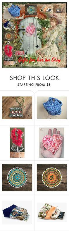 """""""Gifts for her on Etsy!"""" by luckystanlv ❤ liked on Polyvore featuring Moyna"""