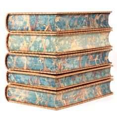michaelmoonsbookshop:  Fine leather bound books with gilt tooling and marbled page edges..