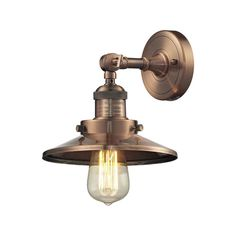 Found it at Wayfair - 1 Light Railroad Shade Wall Sconce