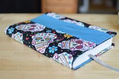 Sugar Skull Book Cover/Planner Cover with by CuriouslyCraftyMom