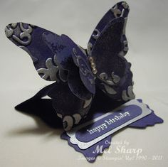 A Stamp Addiction: Butterfly Easel Card
