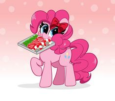 Mlp My Little Pony, My Little Pony Friendship, Mlp Characters, Pinkie Pie, Some Image, Holiday Cookies, Candy Cane, Smurfs, Hair Bows