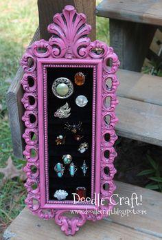 Doodle Craft...: Vintage Frame Ring Holders!