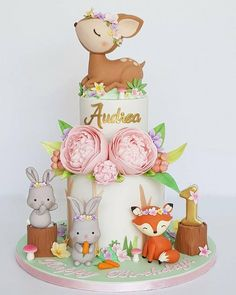 32 Best ideas for baby shower woodland cake birthday parties Baby Birthday Cakes, Girl First Birthday, 1st Birthday Parties, Birthday Ideas, Girl Shower Cake, Baby Shower Cakes, Woodland Cake, Woodland Party, Cupcakes Decorados