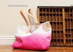 diy dyed tote inspiration | whimseybox.com