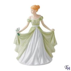 Royal Doulton Pretty Ladies Flower Of The Month January Snowdrop 6.7