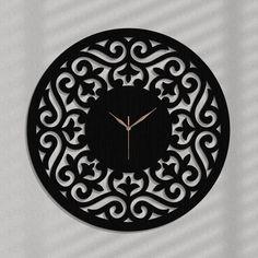 Diy Clock, Clock Decor, Wall Clocks, Wooden Wall Panels, Wooden Walls, Victorian Clocks, Wood Wall Art Decor, Wall Watch, Handmade Clocks