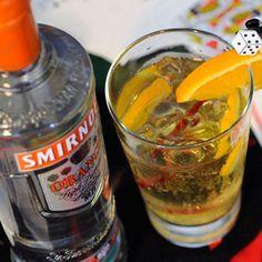 Orange Majestic cocktail with Smirnoff Orange flavored vodka and soda water #Smirnoff #vodka #drink