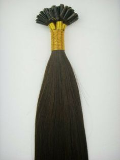 """20"""" Long Nail U Fusion Link Tip 100% Human Hair Extensions #1b Darkest Brown 20 Single Strands by MyLuxury1st+. $27.20. If you have any questions please ask -MyLuxury1st"""