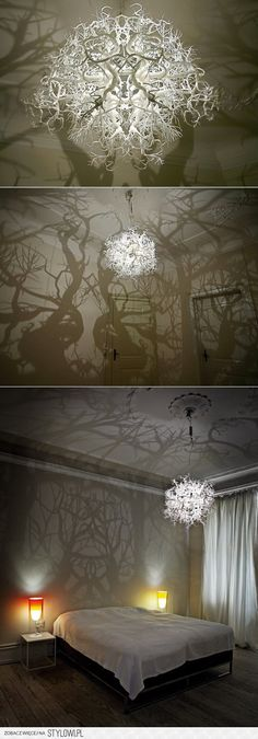 This light throws shadows like a forest at nightime! Very original!