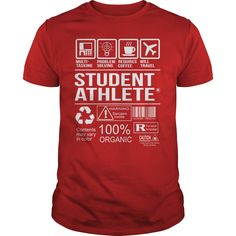 Awesome Tee Shirt Student Athlete T-Shirts, Hoodies. Check Price Now ==► https://www.sunfrog.com/LifeStyle/Awesome-Tee-Shirt-Student-Athlete-Red-Guys.html?id=41382