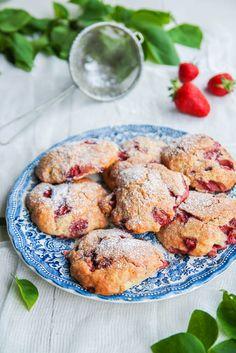 Scones aux fraises