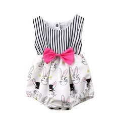 Zombie Bunny Sleeveless Crawling Jumpsuit Rompers