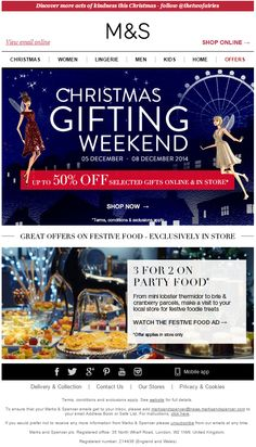 Marks & Spencer  SL: Up to 50% off gifts - ends Monday Sent on Friday, 5th Dec