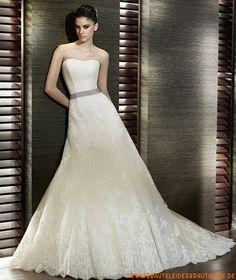 2013 Schöne Brautmode aus Spitze A-Linie
