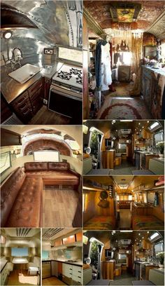Cool AIrstream Interiors!!! I would live in these! And travel and work and it would be awesome!
