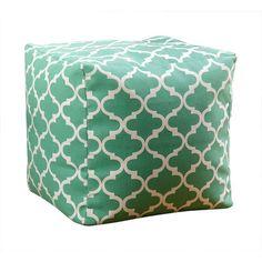 Serena Moroccan Pouf Ottoman Color: Green - http://delanico.com/ottomans/serena-moroccan-pouf-ottoman-color-green-598187511/