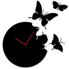 Butterfly Time Fly Wall Clock DIY Art Home Decor Black, http://www.amazon.com/dp/B005FKLMUW/ref=cm_sw_r_pi_awd_..u3rb0HB1ETJ