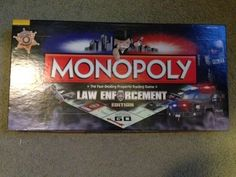 """MONOPOLY """"LAW ENFORCEMENT EDITION"""" COMPLETE AND IN GREAT CONDITION!!  #Hasbro"""