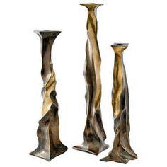 """Nitor"" Bronze Candlesticks by Aldus"