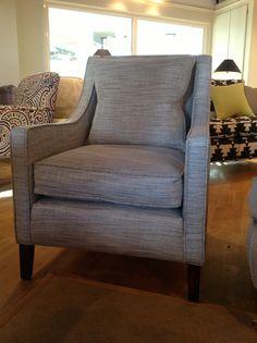 David Seyfreid's 'Draycott' armchair upholstered in Brentano's 'Barkcloth'