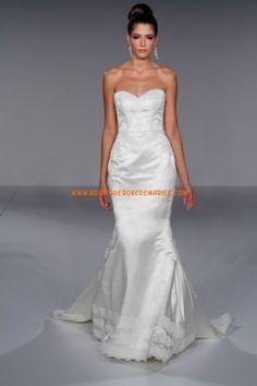 Robe de mariée sirène applique de dentelle