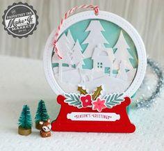 Snow Globe Scene Tag by Betsy Veldman for Papertrey Ink (October 2014)