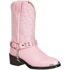 BT568 Durango Girl's Rhinestone Western Boots - Pink Bling www.bootbay.com