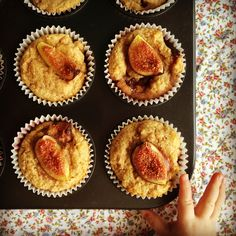 fig & coconut muffins - my lovely little lunch box Coconut Muffins, Savory Muffins, Little Lunch, Milk And Eggs, Sweet Bread, Delish, Lunch Box, Tasty, Treats