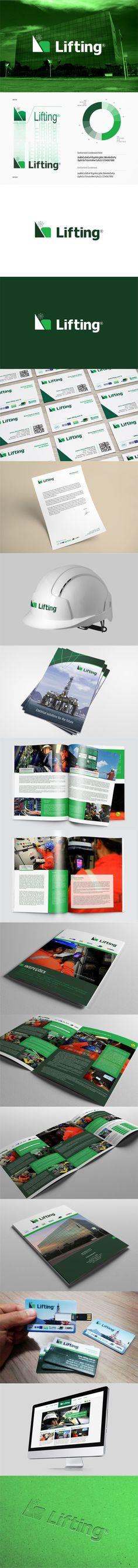 Redesign de marca para a Lifting, empresa especializada em elétrica e eletrônica para o mercado offshore. Acessem: www.lifting.com.br