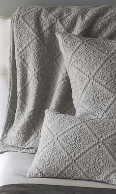 The SFERRA Bassani Coverlet is reminiscent of a coverlet one might find in the romantic bedchambers of a restored Tuscan villa, possessing the soft-rustic texture you'd envision for just such a room.