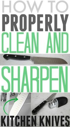 Great tips for cleaning and sharpening kitchen knives! There are a few great points in here that I don't think most people realize!